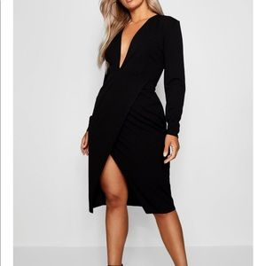 Faux wrap brand new deep V